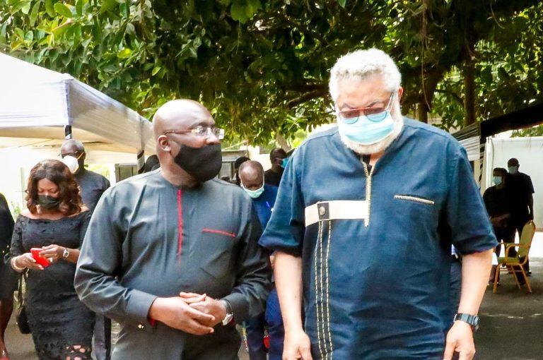 Dr Mahamudu Bawumia And Ex-president Jerry John Rawlings