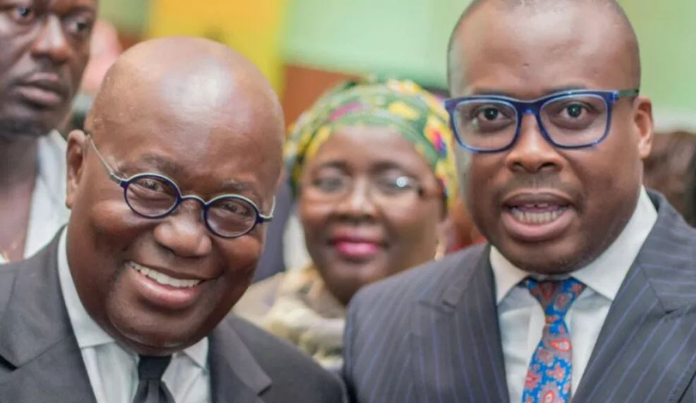 President Akufo-Addo and Paul Adom-Otchere